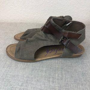Blowfish Canvas Ankle Sandals 9